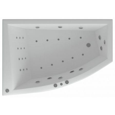 180х125 L/R акриловая ванна (левая или правая), КОМПЛЕКТ (без гидромассажа)
